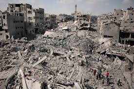 "The ""Gaza"" Arab Ghetto, as the Israeli military left it."