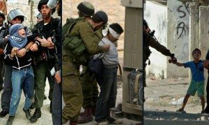 Arab Semite kids in the occupied West Bank being harassed and made prisoners of Jewish Israeli soliders. solders