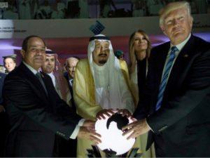 TrumpSalmanSisiHoldingGlobe