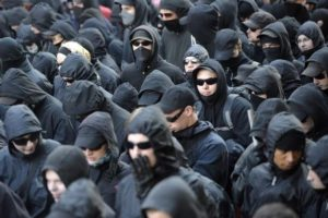 "Antifa, an ""alt-Left"" organization known to incite riots; or, is it ISIS? So hard to tell."