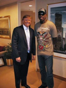 Dennis Rodman and The Donald. Source: OPEN Sports.