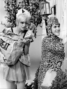 Goldie Hawn and Ruth Buzzi of Laugh-in use a divination rod to divine the future? Maybe not.