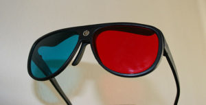 Red Dumbopublican and Blue Dementocratic political filter glasses.