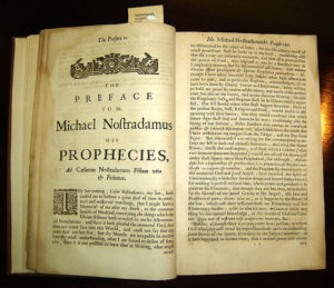 One of the earliest editions of Nostradamus' work.