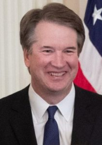 Newly ordained Supreme Court Justice Kavanaugh.