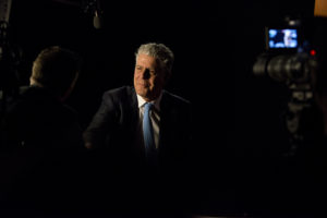 "Anthony Bourdain during the 2014 Peabody interview for ""Parts Unknown."" Photo from the 73rd Annual Peabody Awards, by permisson: Creative Commons."