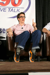 Rachel Maddow making a tipy-toe point. Photo: cc creative commons.