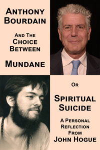 Click on this link and check out John Hogue's newest book. Spiritual Suicide is not what you think. It is when your misery jumps over a cliff and leaves you blissfully behind to share this tale.