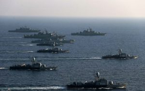 Iranian warships on patrol. Source: Tasnim News Agency.