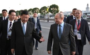 Putin and Xi on their walk in St. Petersberg at SPIEF.