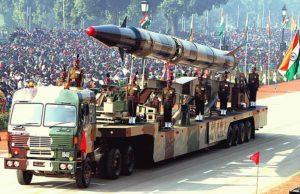 Indian Agni II Intermediate Range nuclear missile. Source Antônio Milena (ABr)