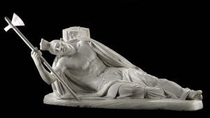 The Dying Tecumseh. Sculpture by Ferdinand Pettrich. Smithsonian Museum.