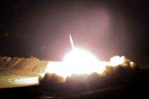 Iranian Fateh-313 cruise missile launch. Heading for US bases in Iraq! FARS News Agency