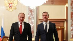 Vladimir Putin and Dmitry Medvedev. Source: ©Sputnik, Dmitry Astakhov.