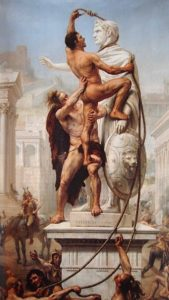 The Sack of Rome by the Visigoths, 24 August 410 AD.