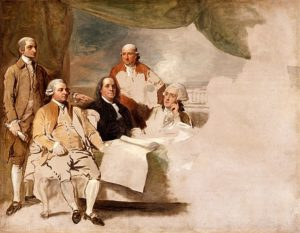 The American Commissioners of the Preliminary Peace Agreement with Great Britain, 1783-1784, London, England, ended the American Revolutionary War in this unfinished oil sketch by Benjamin West. From left to right are John Jay, John Adams, Benjamin Franklin, Henry Laurens and William Temple Franklin. Is their memory being erased in our times by the mob-mind, the politically illiterate, the hysterical morons of woke? What do the planets say:
