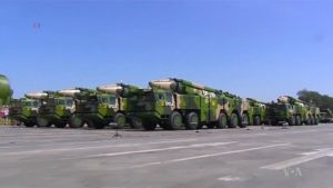 "Chinese ASBM (Anti-Ship Ballistic Missiles) or ""US Carrier Killers"" on parade in 2015."