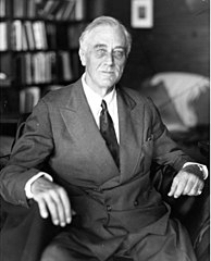 Franklin Delano Roosevelt in a photo taken the day before he died.