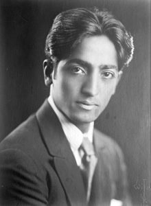 Krishnamurti in the 1920s.