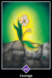 """Courage"" Osho Zen Tarot, designed by Ma Deva Padma. It is my Tarot Deck of choice when I do my online Zoom Readings."