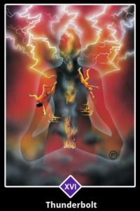 """Thunderbolt"" Osho Zen Tarot, designed by Ma Deva Padma. It is my Tarot Deck of choice when I do my online Zoom Readings."