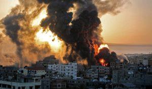 Intifada2021-BombingGazablackcloudSunsetSRC-Haaretz