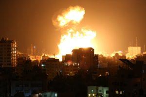 Israeli missiles rain over Gaza.