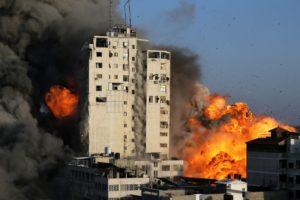 Intifada2021-GazaTowerInitialExplosionBef-Collapse