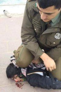 "Jewish policeman pulls a ""George Floyd"" knee-on-neck. Don't Palestinian Lives, like black lives, matter?"
