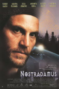 Poster from the movie Nostradamus (1994) produced by Orion Classics, much of which was based on my first book, Nostradamus and the Millennium.