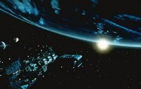 Nostradamus the movie (1994) final scene: humanity arrives at a New Earth in the Constellation of Cancer as foreseen by Nostradamus. The vision was inspired by my 1987 original interpretation of Nostradamus' 3797 AD Prophecies in Nostradamus and the Millennium.